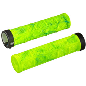 Supacaz Grizips Grips, neon yellow/neon blue splash